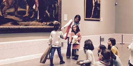 Visitas a museos en familia