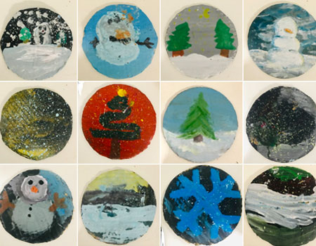 Taller Pintura Niños Navidad
